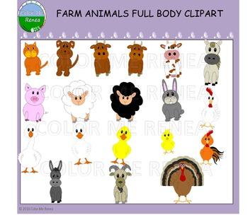 Farm Animals Full Body Clipart