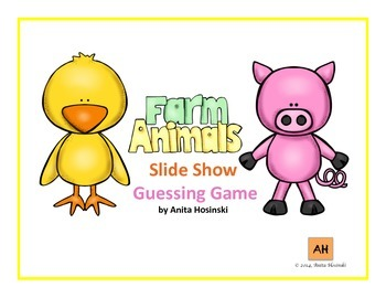 spanish farm animals slide show review game
