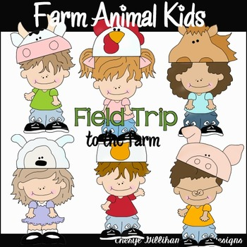 Farm Animals Kids Clipart Collection