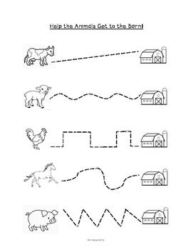 Farm Animals Pre-writing Skills