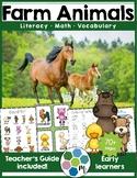 Farm Animals Math & Literacy - Printables & Activities