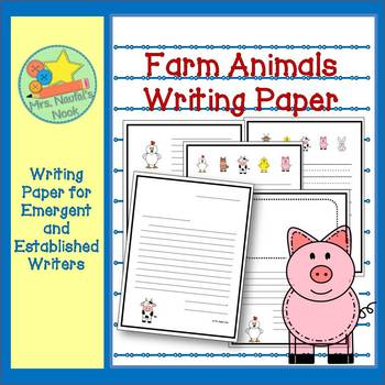 Farm Animals Writing Paper