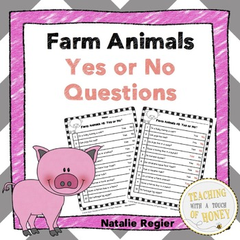 Farm Animals Yes or No Questions
