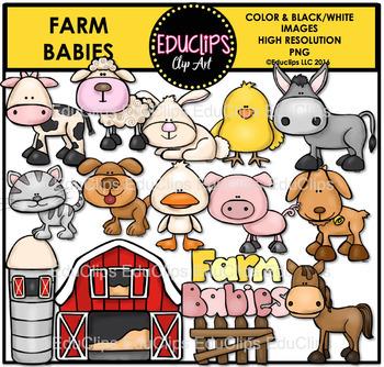 Farm Babies Clip Art Bundle