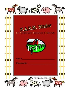 Farm {Barn Animals} Binder Cover