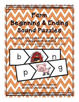Farm Beginning & Ending Sound Puzzle