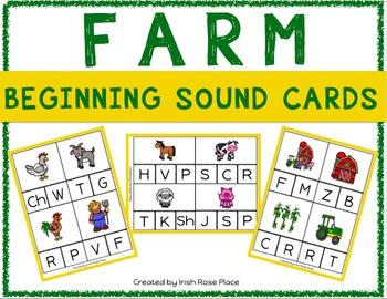 Farm Beginning Sound Cards