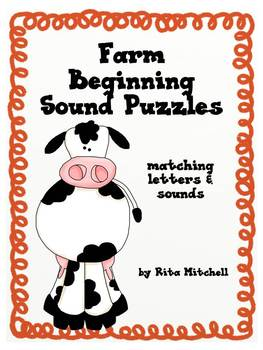 Farm Beginning Sound Puzzles