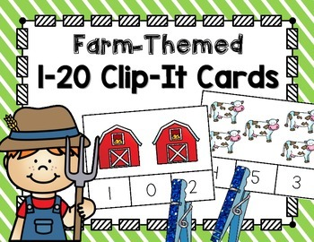 Farm Clip-It Cards for 1-20