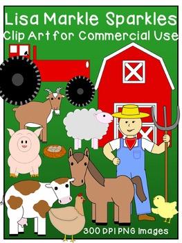 Farm Clip Art Set for Commercial Use
