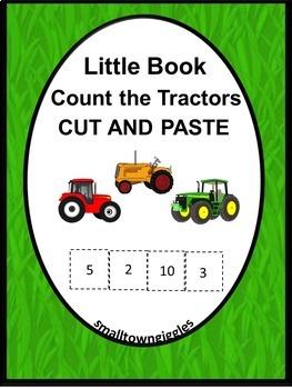 Farm Tractors Kindergarten Math Centers Little Book or Int