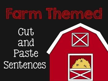 Farm Cut and Paste Sentences