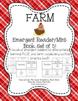 Farm Emergent Reader Mini-Books Set of 5