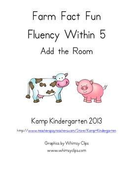 Farm Fact Fun Fluency Within 5 Add the Room