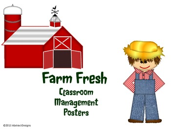 Farm Fresh Classroom Management Posters