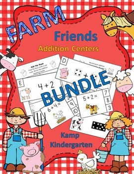 Farm Friends Addition Centers Bundle (Sums of 0 to 10)