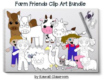 Farm Friends Clip Art Bundle