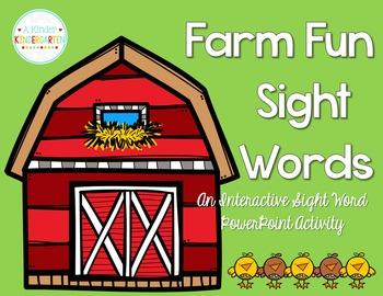 Farm Fun Sight Words! An Interactive PowerPoint Activity