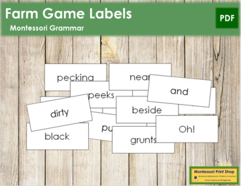 Farm Game Labels (B/W)
