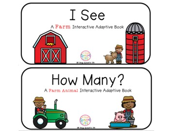 "Farm Interactive Adaptive books - set of 2 (""I See and ""Ho"