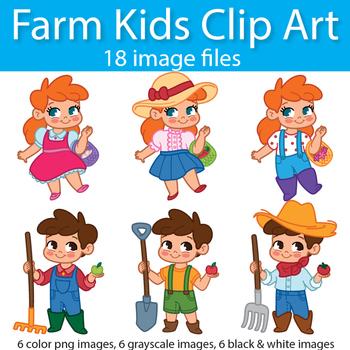 Farm Kids Clip Art