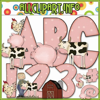 Farm Life Lettering Delights Alphas - Cheryl Seslar Clip Art