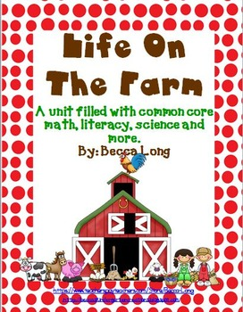 Farm - Life On The Farm - Filled with common core activities