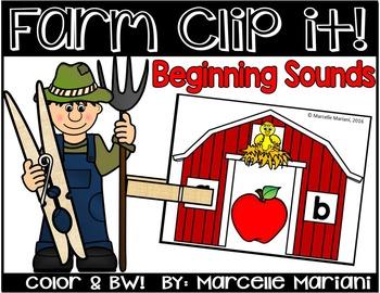 Farm Literacy Center Activity- Farm beginning sounds Liter