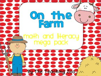 Farm MEGA Math & Literacy Learning Pack
