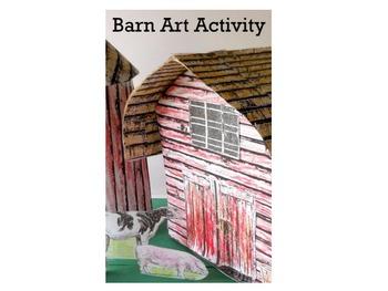 Barn Art Activity-Build a Miniature Barn and Farmyard Replica