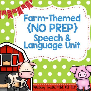Farm {No Prep} Speech & Language Unit