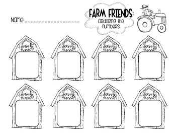 """Farm Friends"" Number Ordering Activity [FREEBIE!]"