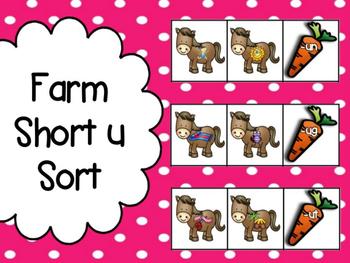 Farm: Short u Word Family Sorts
