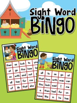 Farm Sight Word Bingo