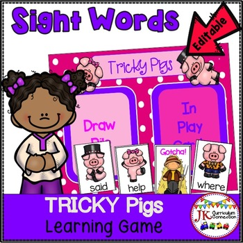Farm Sight Word Game- Tricky Pigs!
