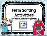 Farm Sorting Activities {for Pre-K & K}