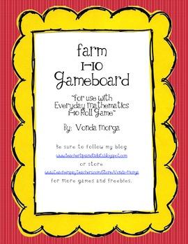 Farm Theme 1-10 Game Everyday Mathematics