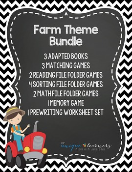 Farm Theme Bundle: 16 Farm Themed Products for Children wi