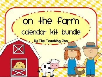 Farm Theme Calendar Kit Bundle