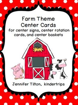 Farm Theme Center Signs
