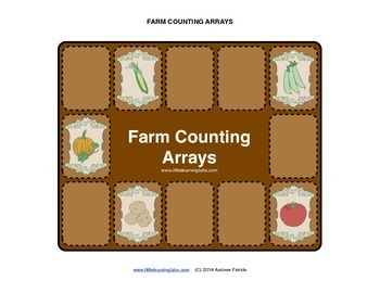 Farm Theme Counting Arrays - Count to 15 and practice maki
