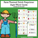 Farm Theme Dolch Preprimer Sight Words