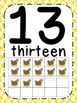 Farm Theme Number Posters 0-30 Large, Small & Flashcards