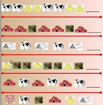 Farm Theme:  Patterns Whiteboard Activity