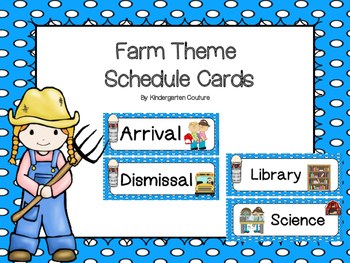 Farm Theme Schedule Cards