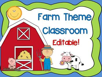 Farm Theme Signs, Labels and Nameplates {Editable}