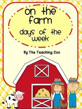 Farm Themed Days of the Week
