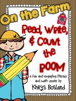 Farm Themed Read, Write, and Count the Room {Literacy and
