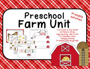 Farm Unit Activity Printables
