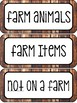 Farm Unit (Literacy Centers ONLY)